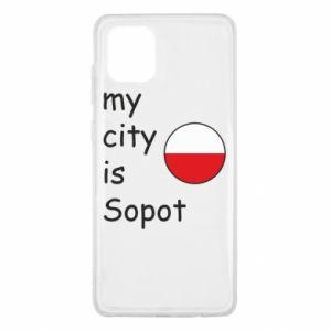 Samsung Note 10 Lite Case My city is Sopot