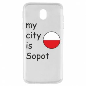Samsung J7 2017 Case My city is Sopot