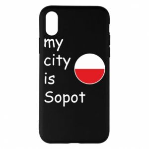 Etui na iPhone X/Xs My city is Sopot