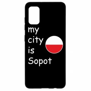 Samsung A41 Case My city is Sopot
