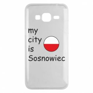 Phone case for Samsung J3 2016 My city is Sosnowiec