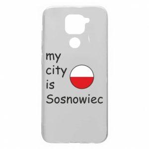 Xiaomi Redmi Note 9 / Redmi 10X case % print% My city is Sosnowiec