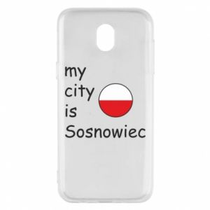 Etui na Samsung J5 2017 My city is Sosnowiec