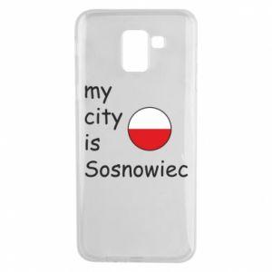 Etui na Samsung J6 My city is Sosnowiec