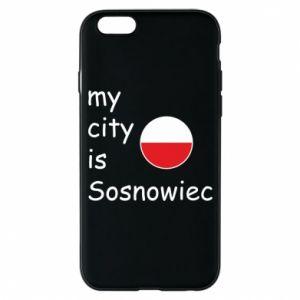 Etui na iPhone 6/6S My city is Sosnowiec