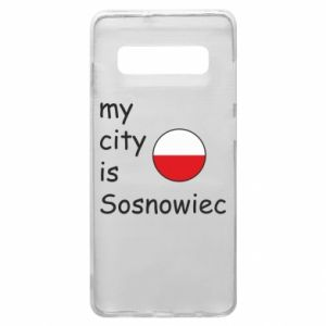 Phone case for Samsung S10+ My city is Sosnowiec