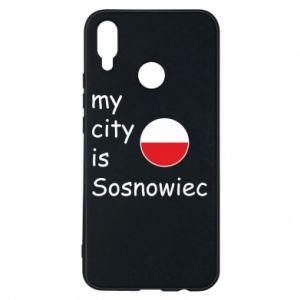 Etui na Huawei P Smart Plus My city is Sosnowiec
