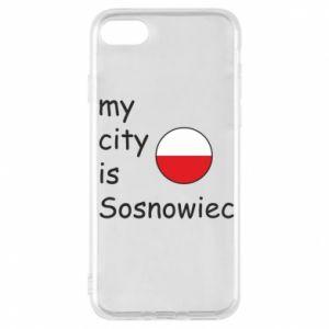 Etui na iPhone 7 My city is Sosnowiec