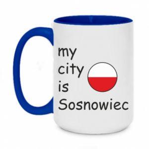 Two-toned mug 450ml My city is Sosnowiec