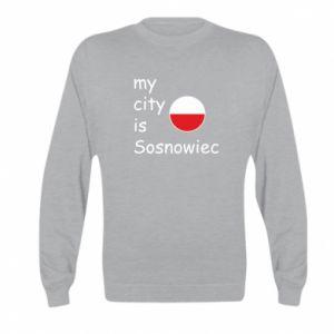 Kid's sweatshirt My city is Sosnowiec