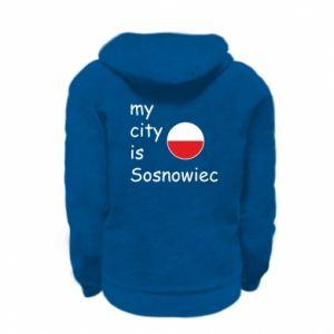 Kid's zipped hoodie % print% My city is Sosnowiec