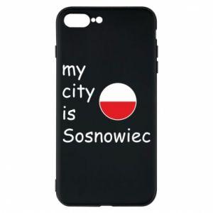 Etui na iPhone 8 Plus My city is Sosnowiec