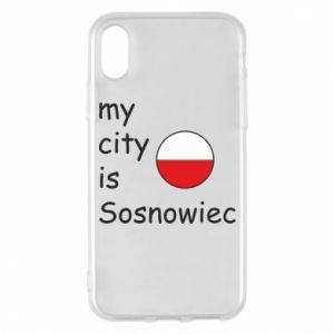 Etui na iPhone X/Xs My city is Sosnowiec