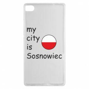 Huawei P8 Case My city is Sosnowiec