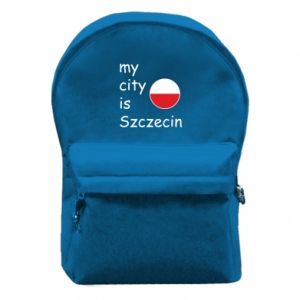 Backpack with front pocket My city is Szczecin