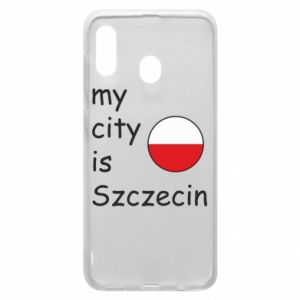 Etui na Samsung A30 My city is Szczecin