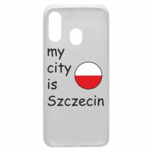 Etui na Samsung A40 My city is Szczecin