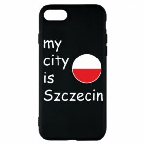 Etui na iPhone 7 My city is Szczecin