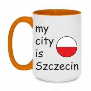 Kubek dwukolorowy 450ml My city is Szczecin