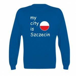 Kid's sweatshirt My city is Szczecin