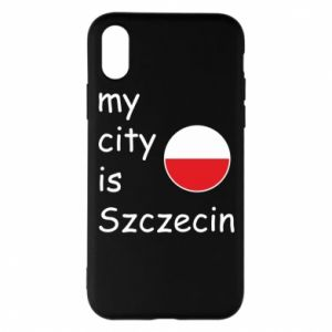 Etui na iPhone X/Xs My city is Szczecin