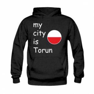Kid's hoodie My city is Torun