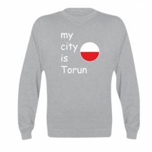 Kid's sweatshirt My city is Torun