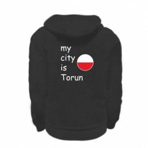 Kid's zipped hoodie % print% My city is Torun