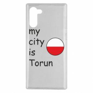 Samsung Note 10 Case My city is Torun