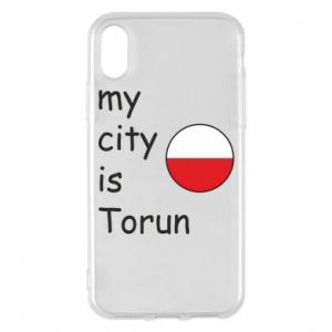 iPhone X/Xs Case My city is Torun