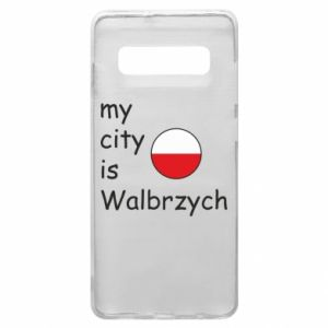 Etui na Samsung S10+ My city is Walbrzych