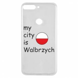 Etui na Huawei Y7 Prime 2018 My city is Walbrzych