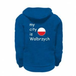 Kid's zipped hoodie % print% My city is Walbrzych