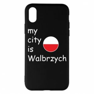Etui na iPhone X/Xs My city is Walbrzych