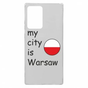 Samsung Note 20 Ultra Case My city is Warsaw