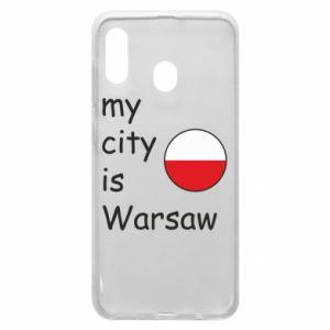 Etui na Samsung A20 My city is Warszaw