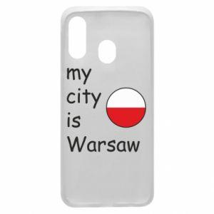 Etui na Samsung A40 My city is Warszaw
