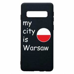 Samsung S10 Case My city is Warsaw