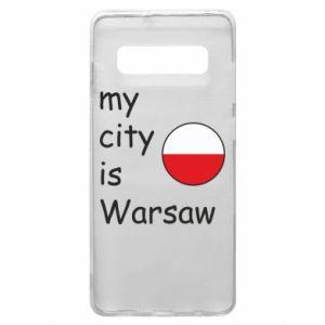 Samsung S10+ Case My city is Warsaw