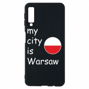 Etui na Samsung A7 2018 My city is Warszaw