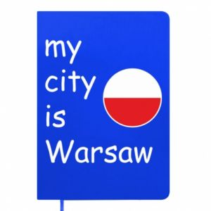 Notepad My city is Warsaw