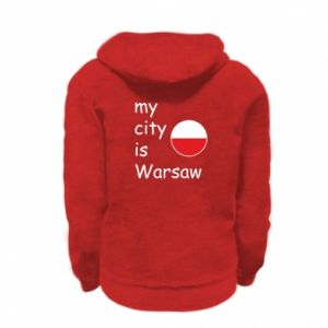 Kid's zipped hoodie % print% My city is Warsaw