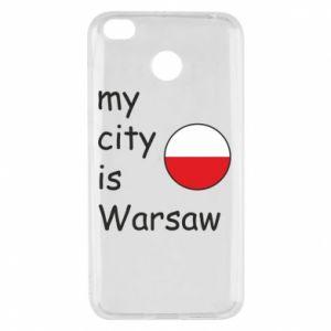 Xiaomi Redmi 4X Case My city is Warsaw