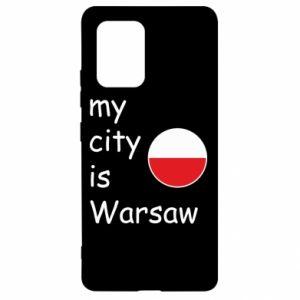 Samsung S10 Lite Case My city is Warsaw