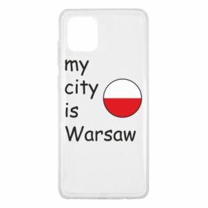 Samsung Note 10 Lite Case My city is Warsaw