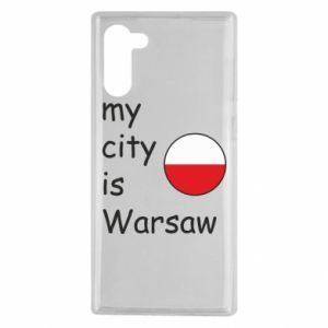 Samsung Note 10 Case My city is Warsaw