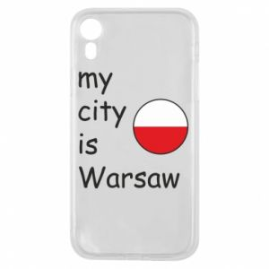 Etui na iPhone XR My city is Warszaw