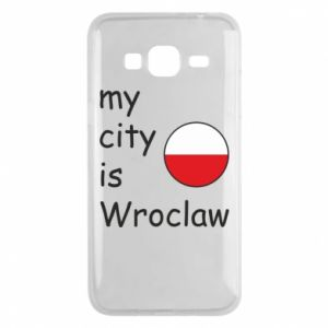 Phone case for Samsung J3 2016 My city isWroclaw