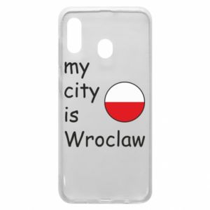 Phone case for Samsung A30 My city isWroclaw
