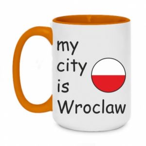 Two-toned mug 450ml My city isWroclaw